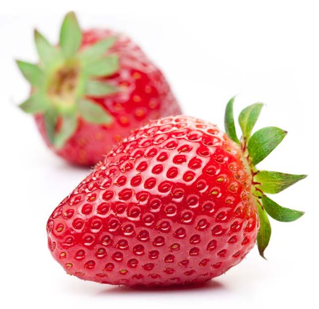 fraise-fond-blanc
