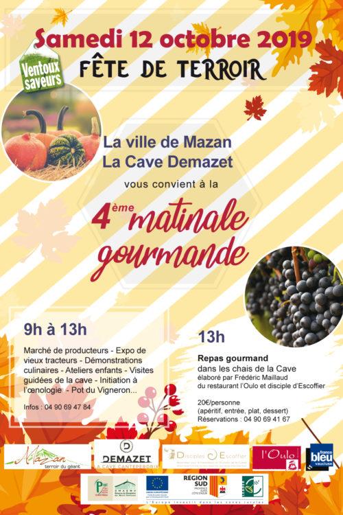 10-12- Mazan - matinale gourmande-