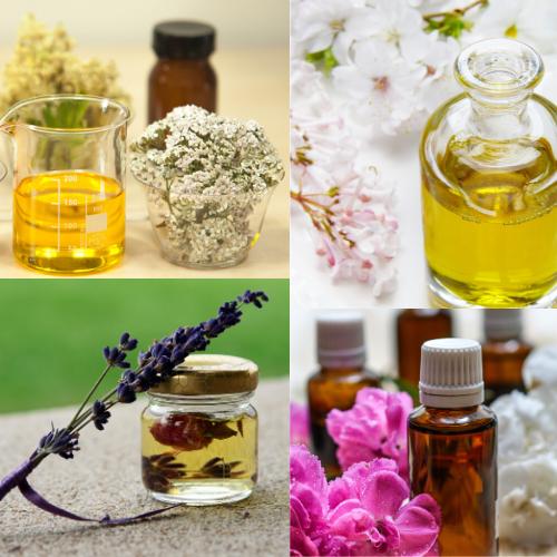Huile essentielle, produits cosmétiques, savon